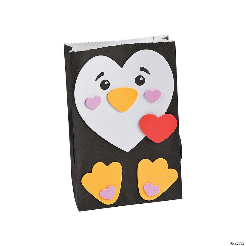 Penguin Valentine Card Holder Craft Kit