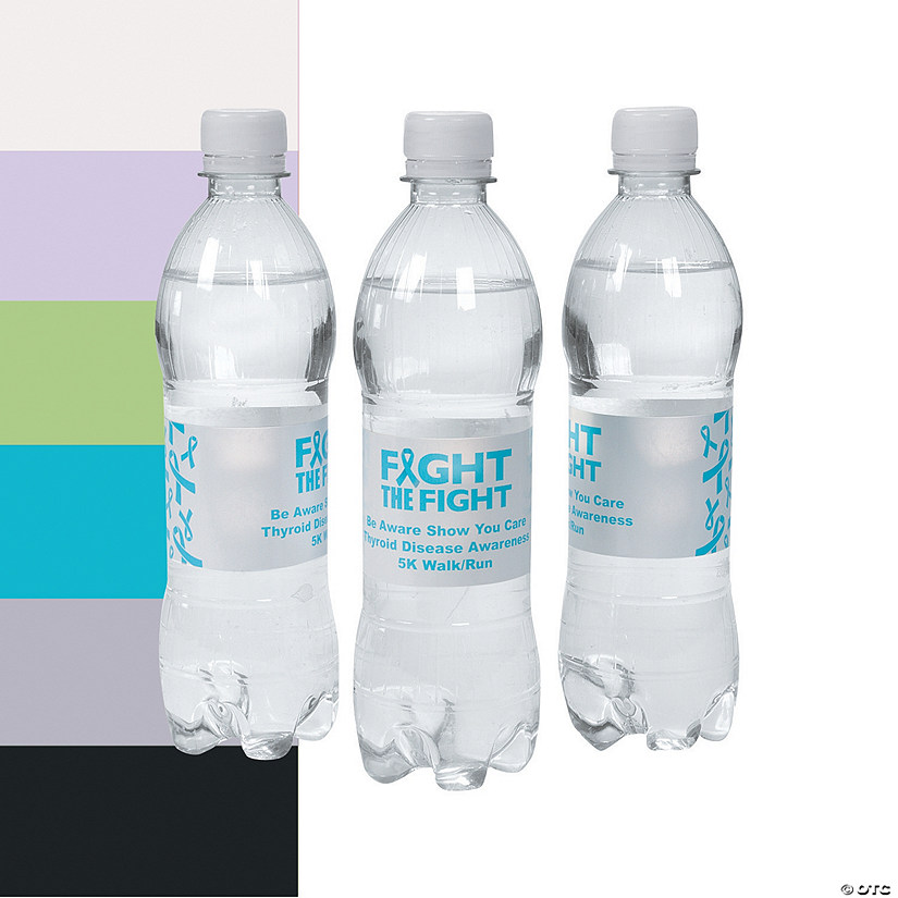 Personalized Awareness Ribbon Water Bottle Labels