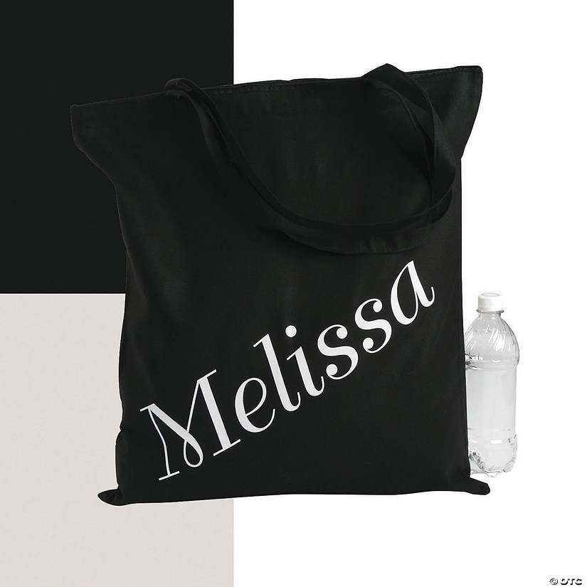 Personalized Extra Large Name Canvas Tote Bag