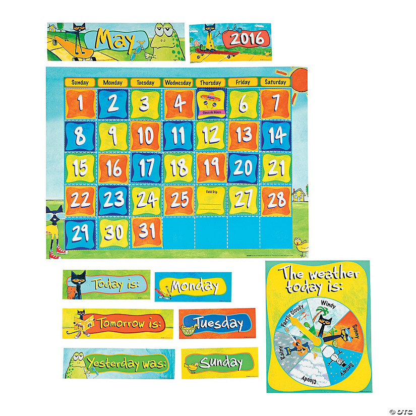 Pete the Cat™ Bulletin Board Calendar