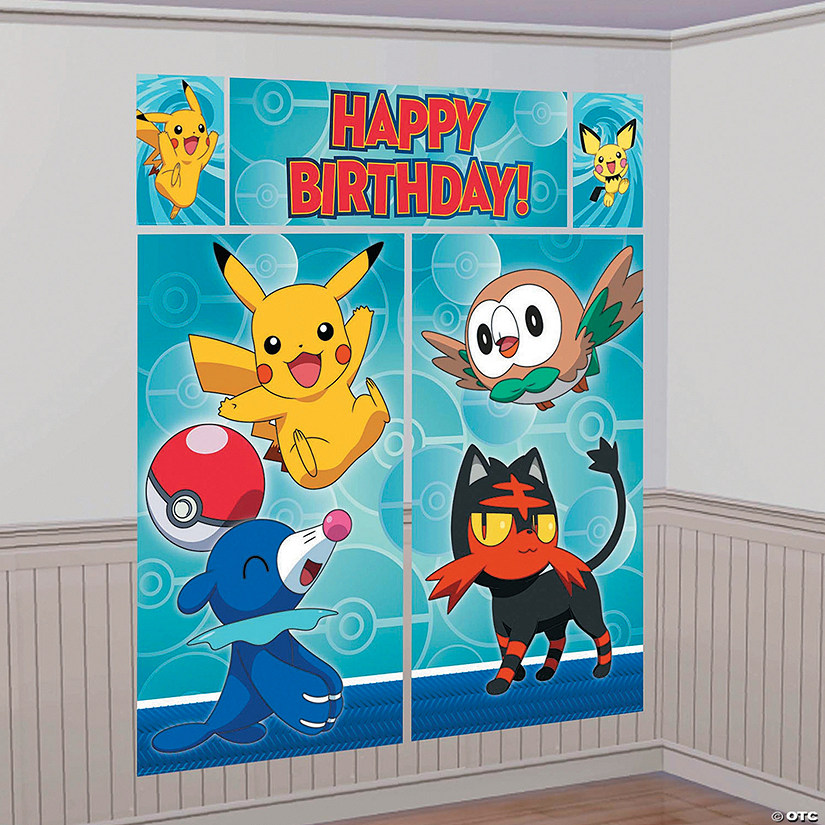 Pikachu & Friends Backdrop Set