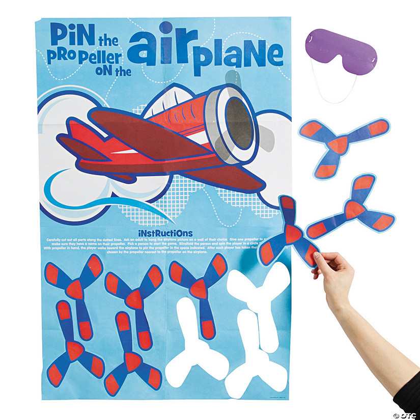 Pin the Propeller on the Airplane Party Game