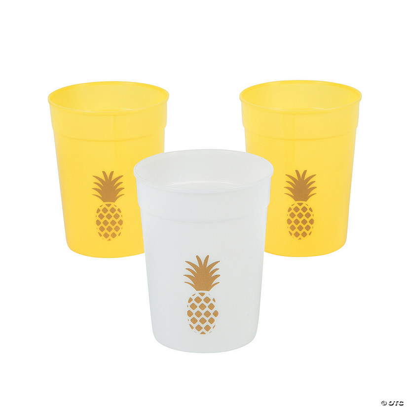 Pineapple Icon Plastic Tumblers