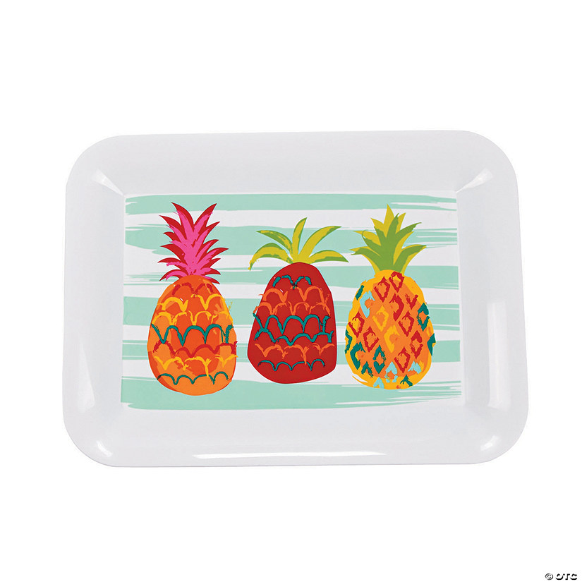 Pineapple Plastic Serving Tray