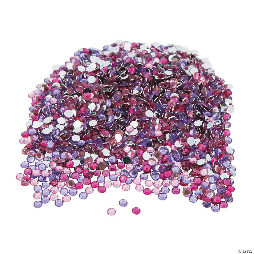 Pink & Purple Faceted Round Gems