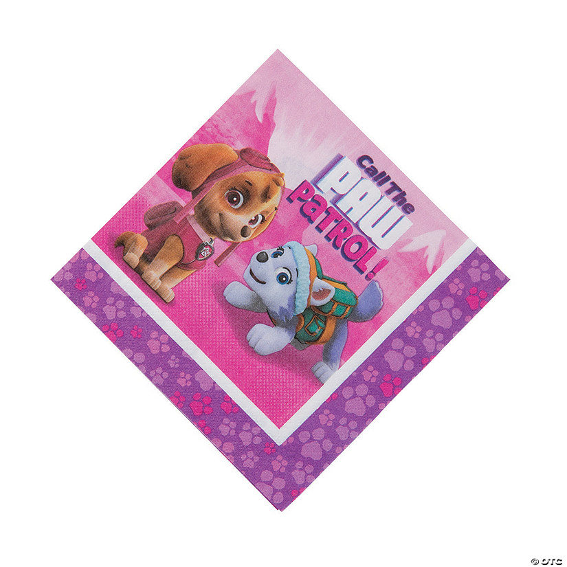 Pink & Purple Paw Patrol™ Luncheon Napkins