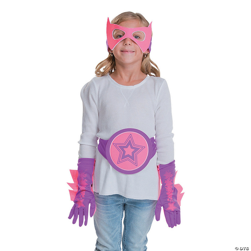 Pink & Purple Superhero Accessories