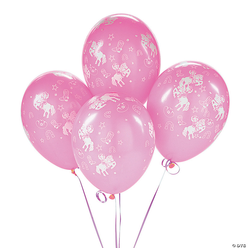"Pink Cowgirl 11"" Latex Balloons"