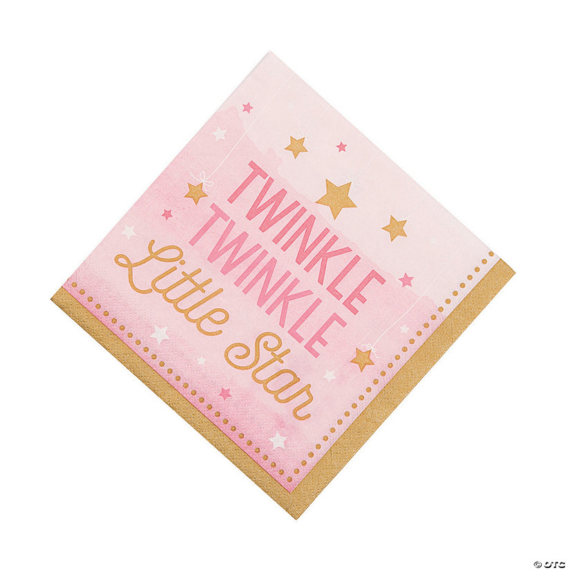 Pink One Little Star Luncheon Napkins