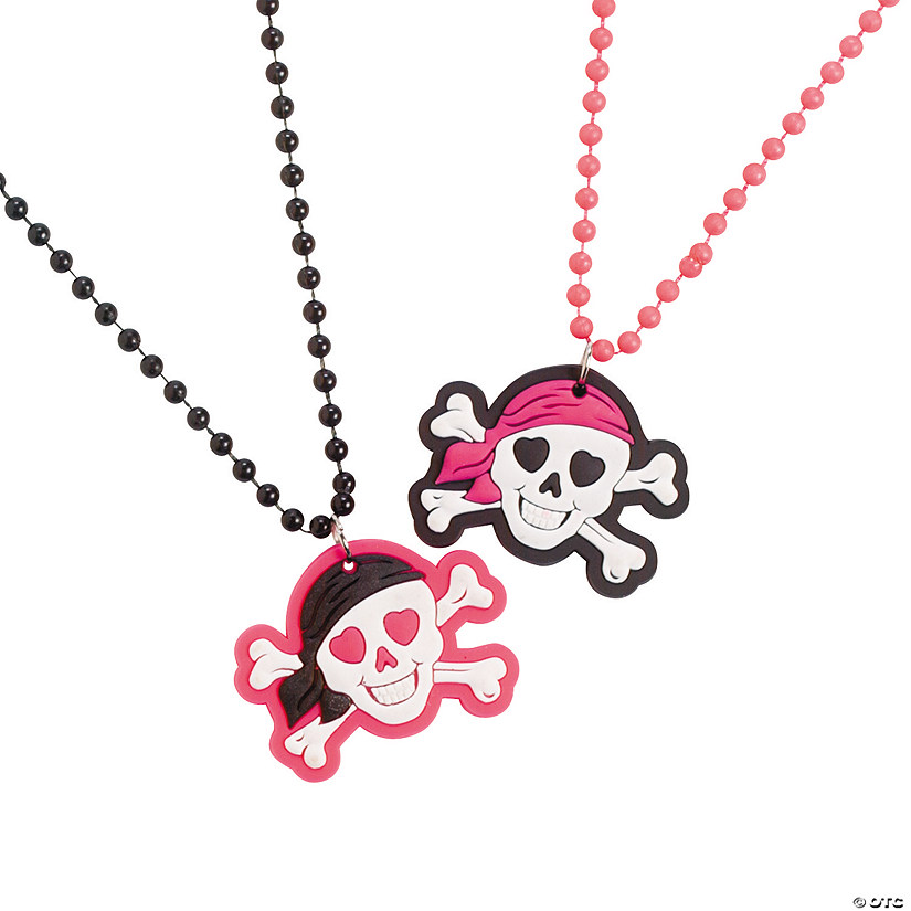 Pink Pirate Bead Necklaces