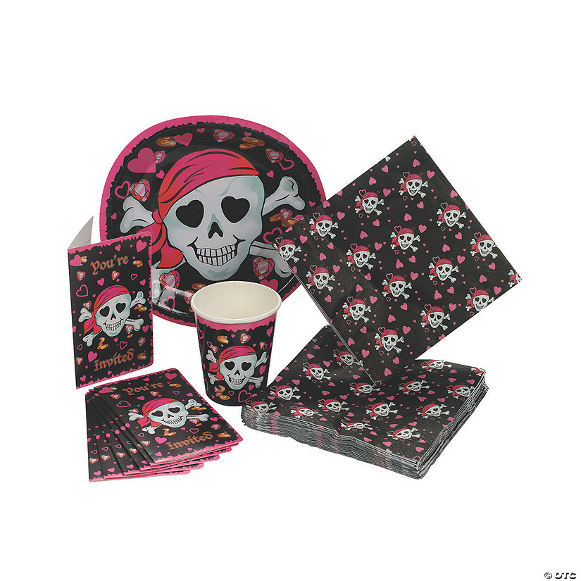 Pink Pirate Girl Tableware/Invites
