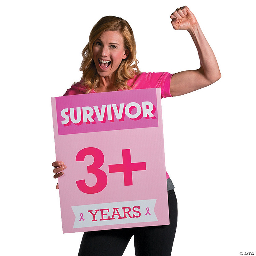 Pink Ribbon Survivor Signs