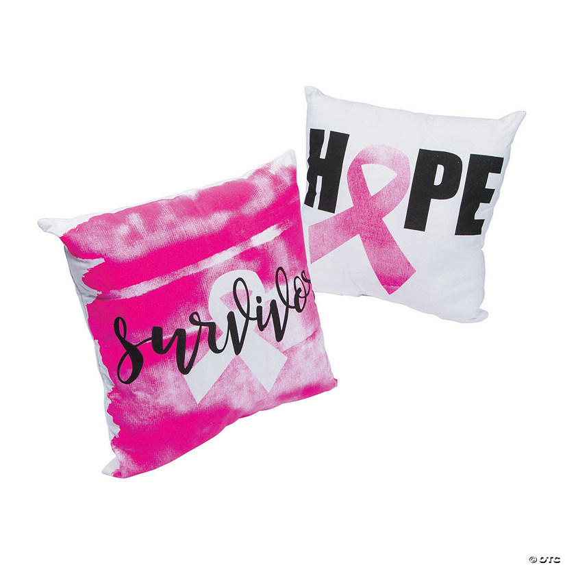Pink Ribbon Throw Pillows