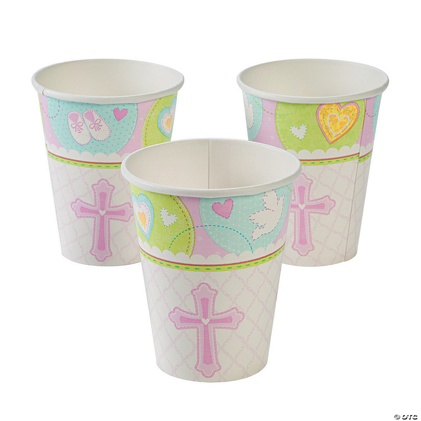 Pink Sweet Christening Paper Cups