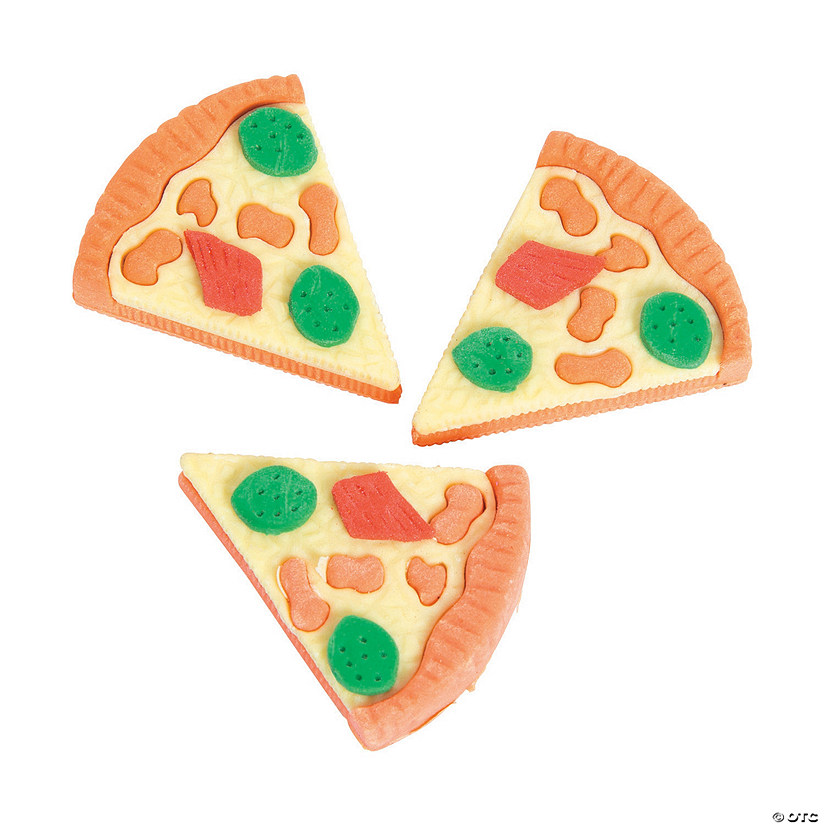 Pizza Erasers