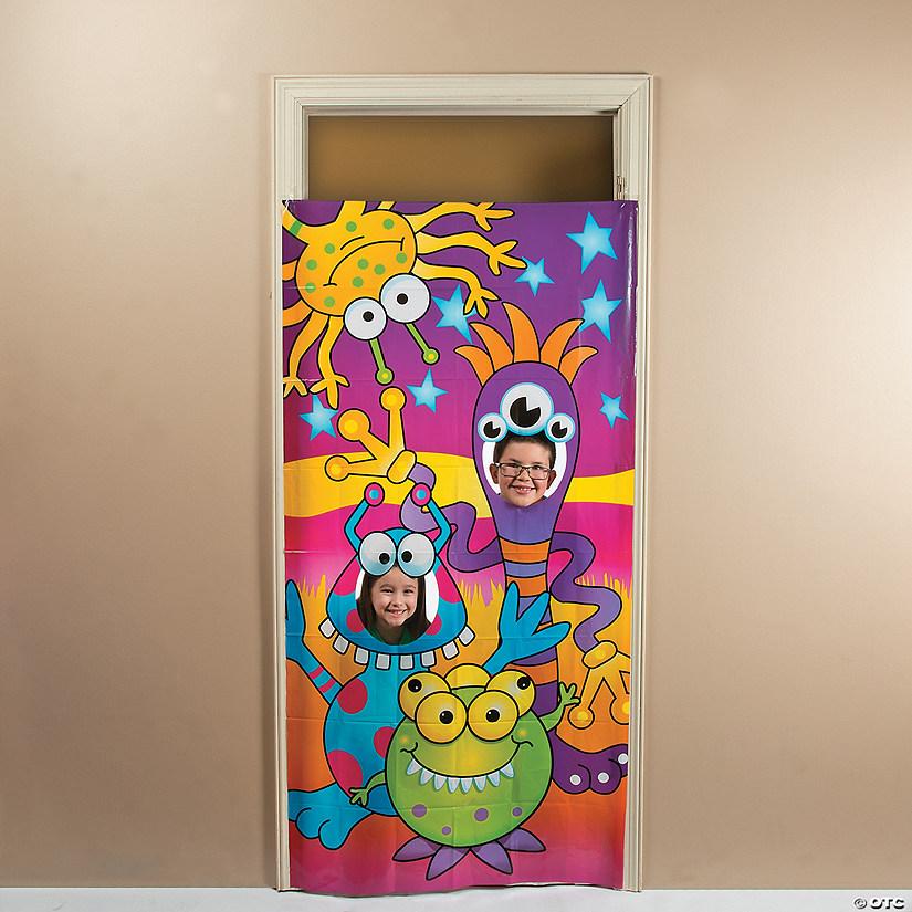 Plastic Happy Monster Photo Door Banner