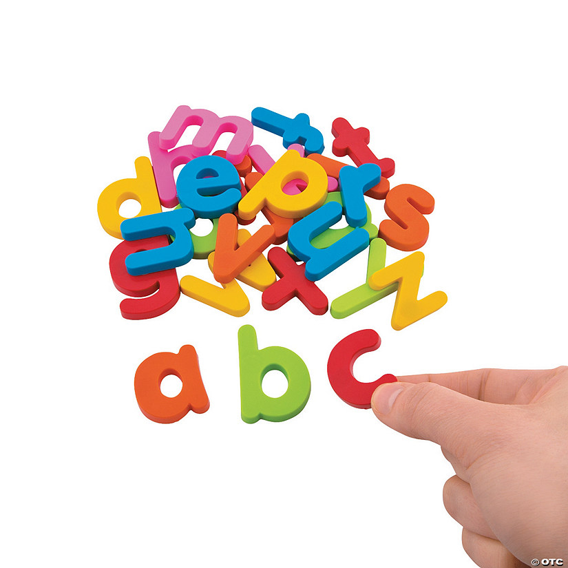 Plastic Magnetic Letters - Lowercase Letter Set