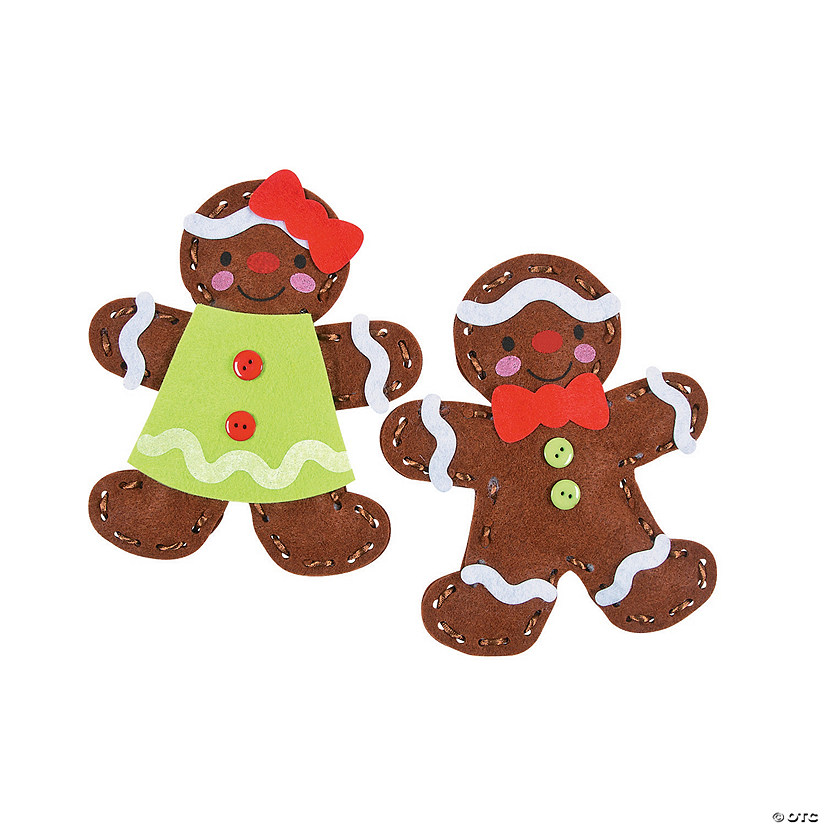 Plush Lacing Gingerbread Craft Kit