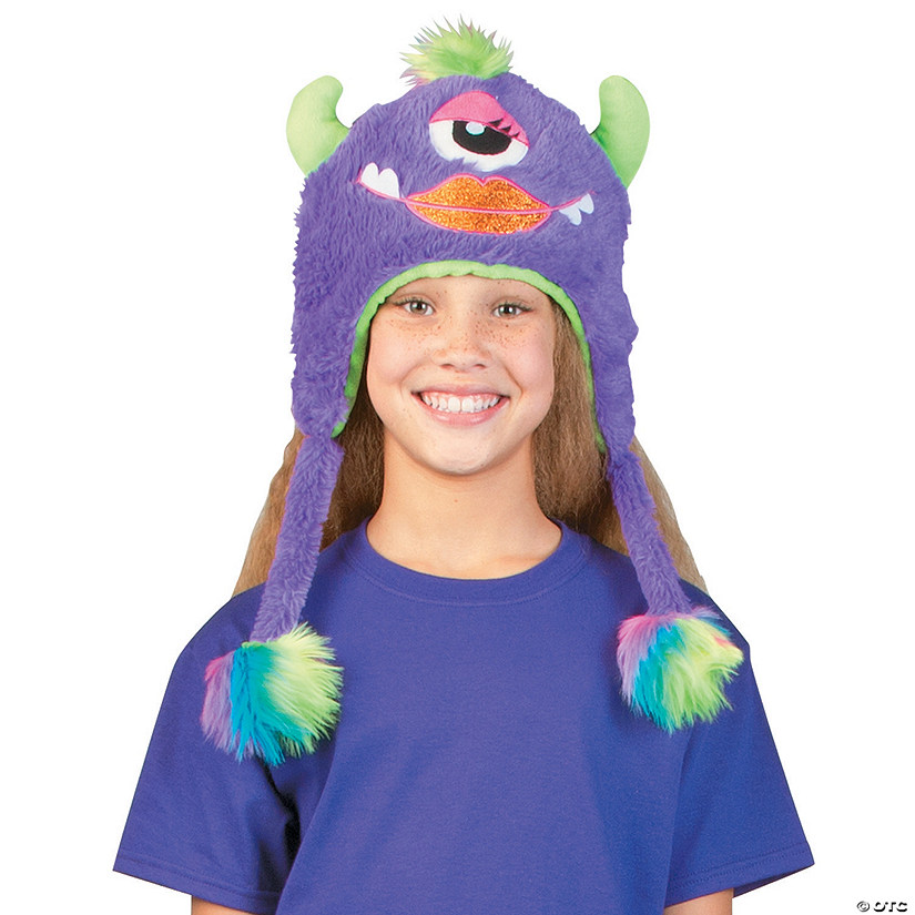 Plush Purple Monster Hat