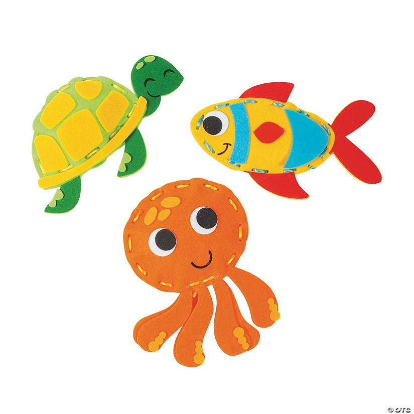 Plush Sea Life Lacing Craft Kit
