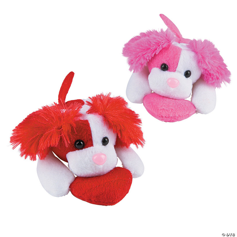 Dog Valentine Toys : Plush valentine floppy dogs with heart discontinued