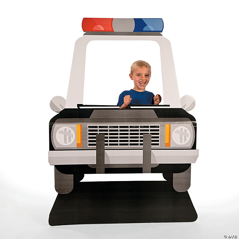 Police Car Photo Cardboard Stand-Up