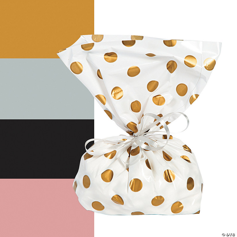 Polka Dot Cellophane Bags