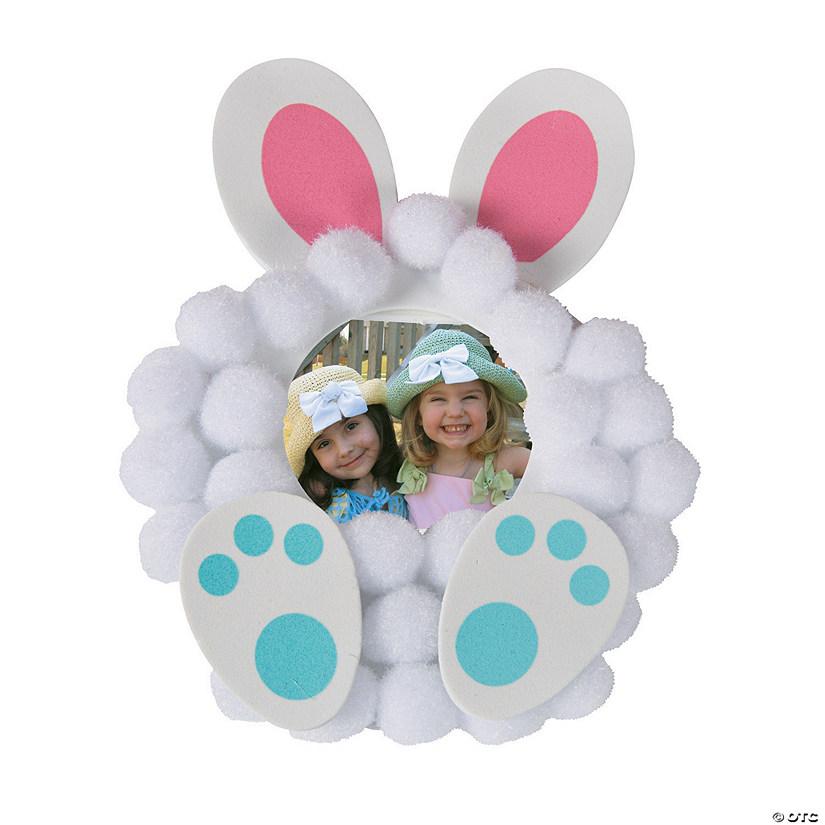 Pom-Pom Bunny Picture Frame Magnet Craft Kit
