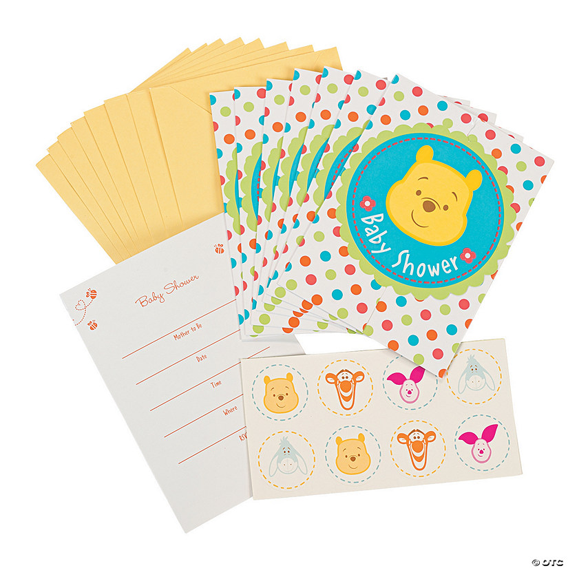 Pooh Little Hunny Baby Shower Invitations With Seal Discontinued