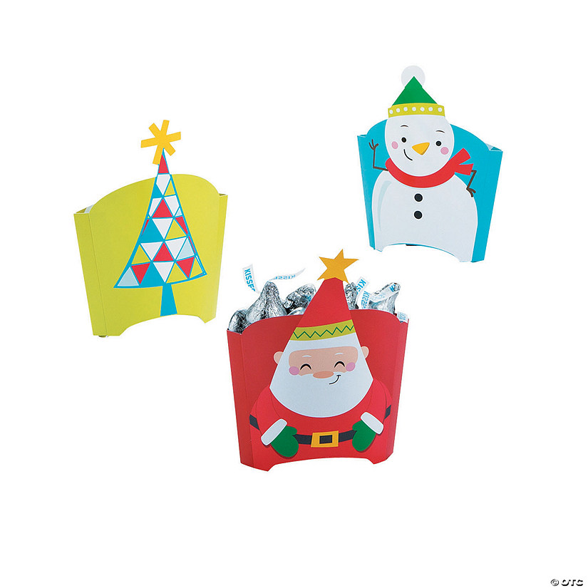 Pop-Up Christmas Treat Containers