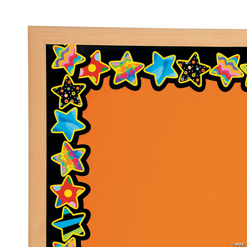 Poppin' Patterns Stars Bulletin Board Borders