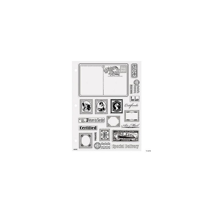 postcard stamp clear stamps discontinued