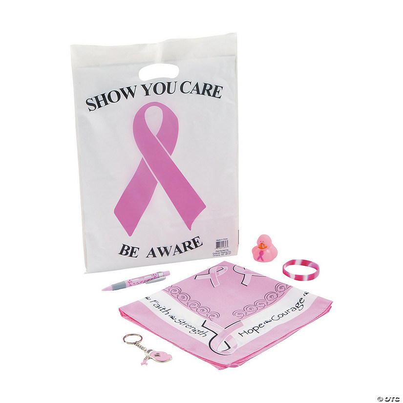Pre-Filled Breast Cancer Awareness Goody Bags