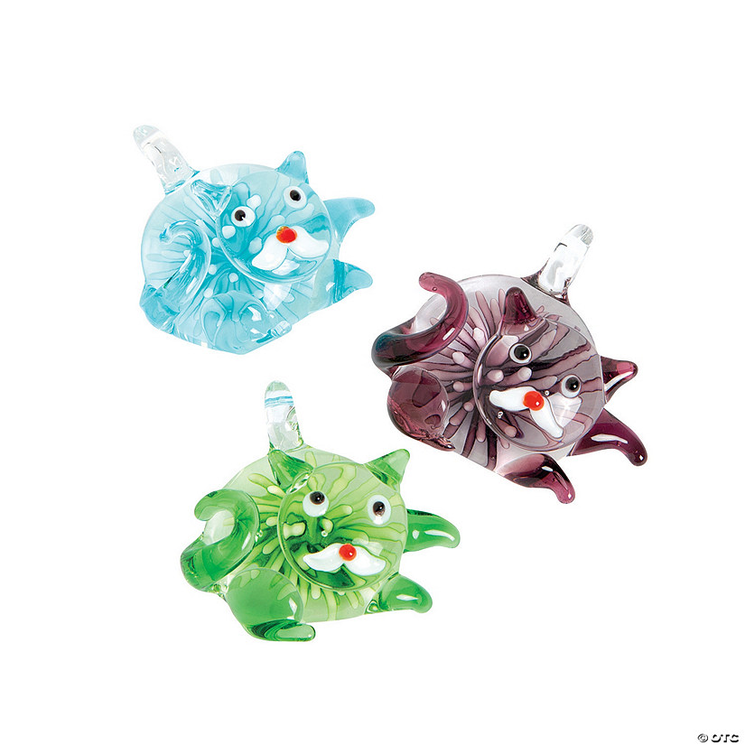 Premium Glass Cat Pendants