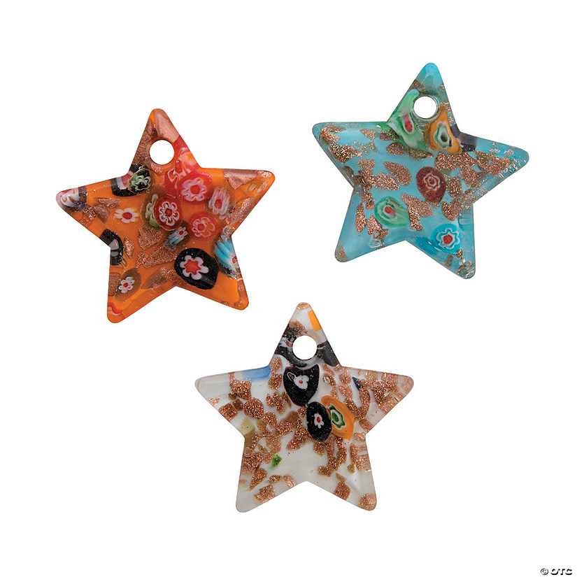 Premium Glass Star Pendants