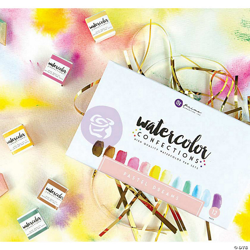 Prima Watercolor Confections Watercolor Pans 12/Pkg-Pastel Dreams