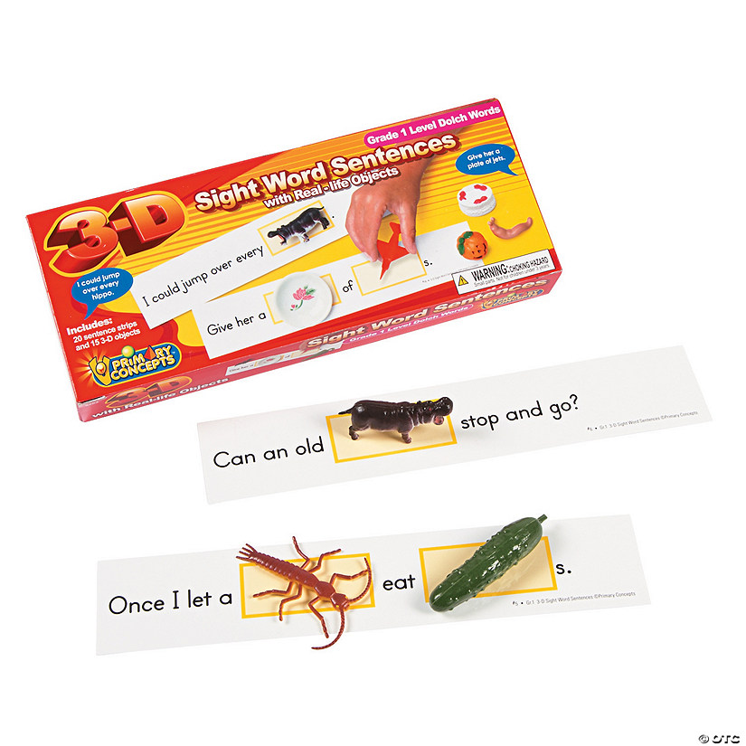 Primary Concepts™ 3-D Sight Word Sentences Grade 1 Dolch Words