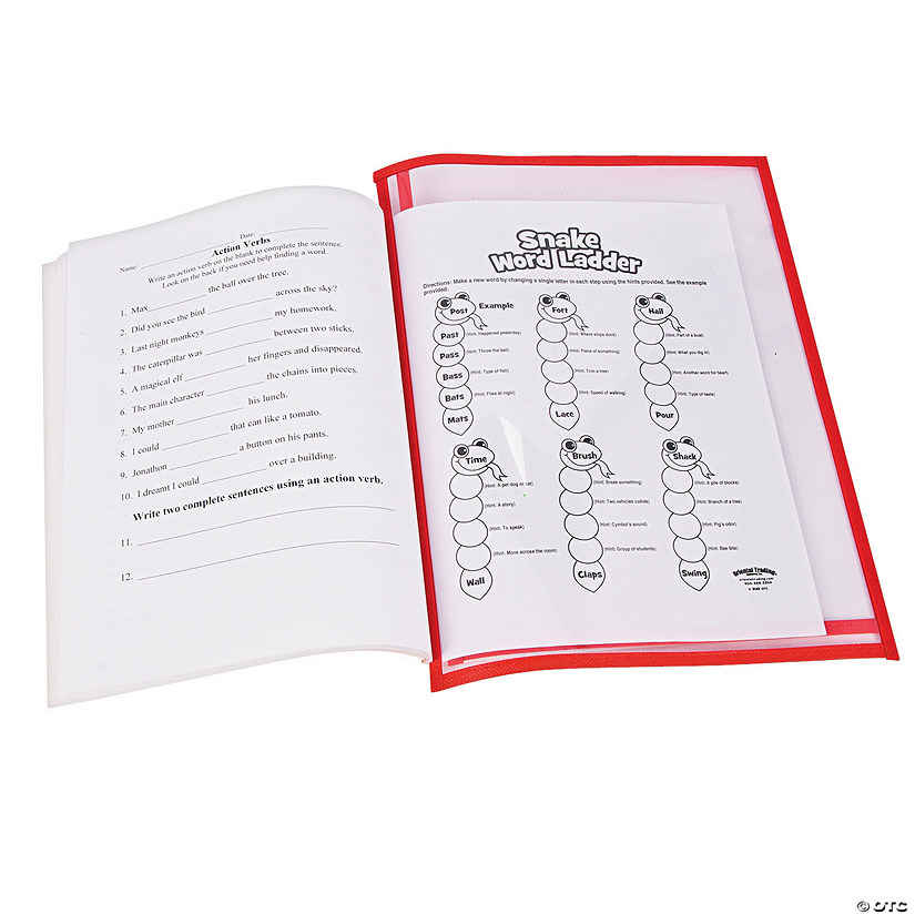 Primary Side-Loading Dry Erase Sleeves
