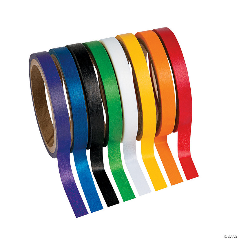 Primary Solid Colors Washi Tape Set