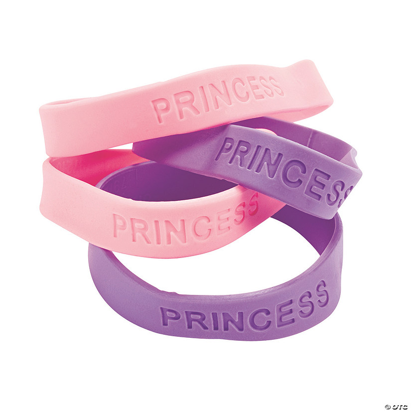 """Princess"" Sayings Rubber Bracelets"