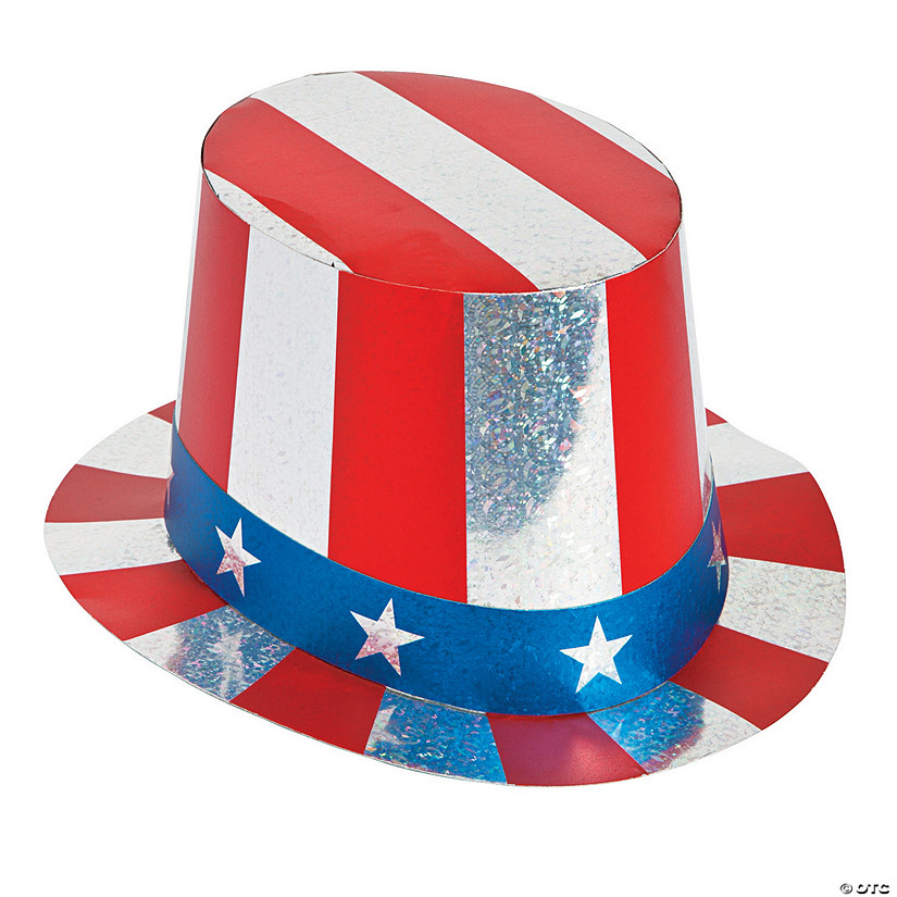 Prismatic Patriotic Top Hats