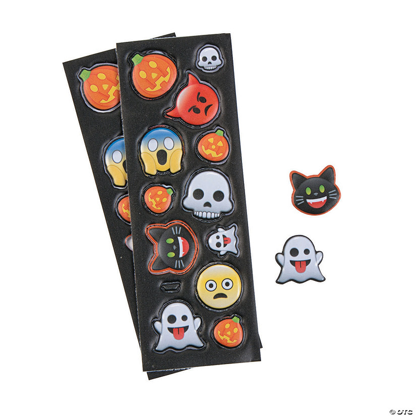 Puffy Halloween Emoji Stickers