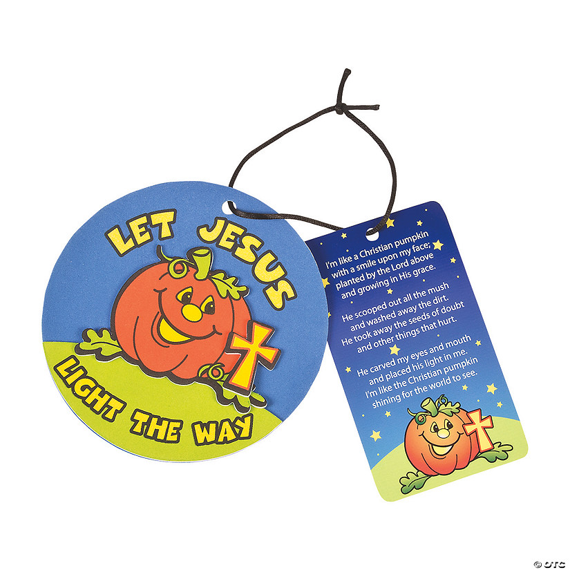 Pumpkin Prayer Ornaments with Card Craft Kit