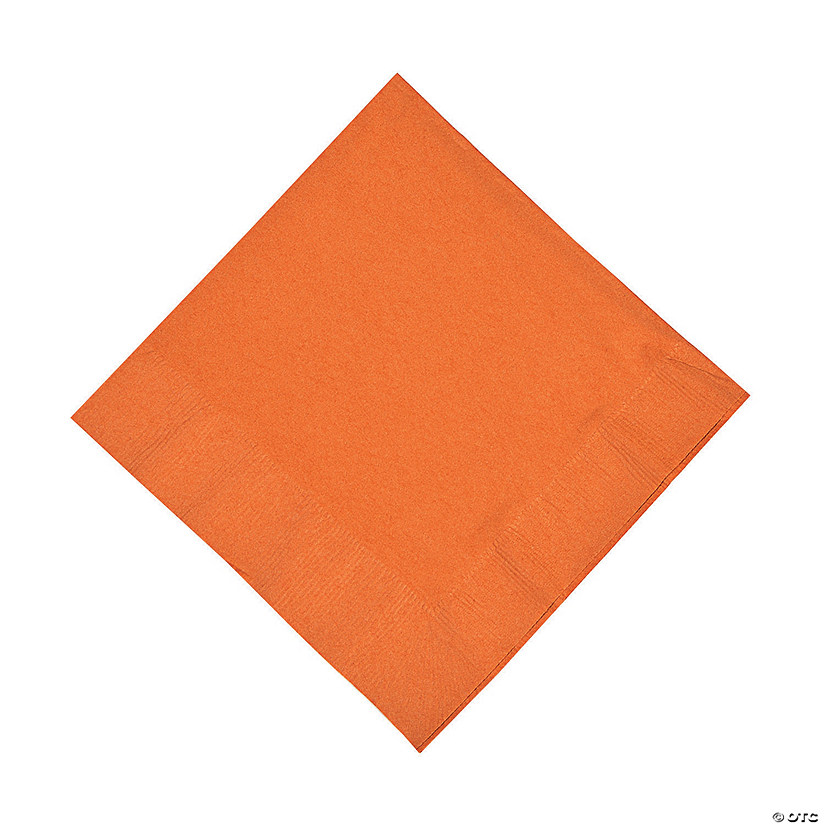 Pumpkin Spice Orange Luncheon Napkins