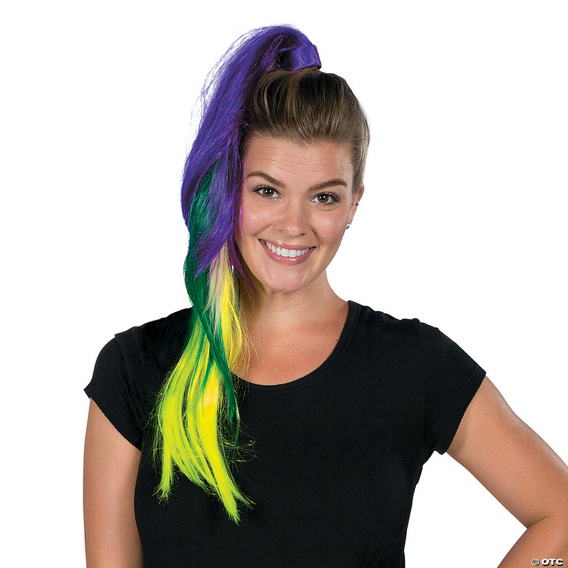 Purple & Green Ponytail Extension