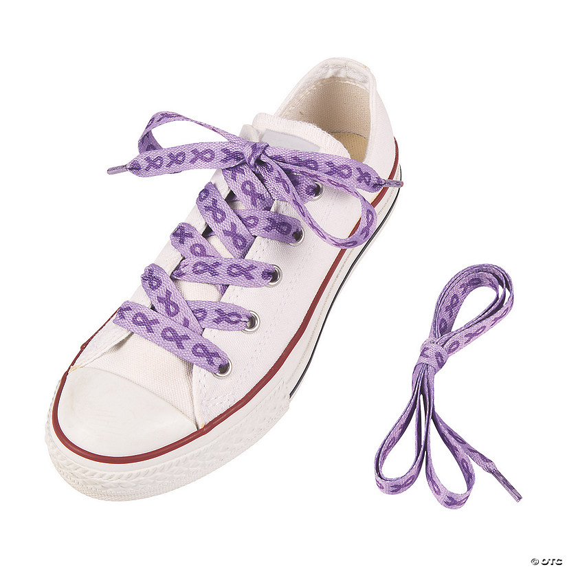 Purple Awareness Ribbon Shoelaces