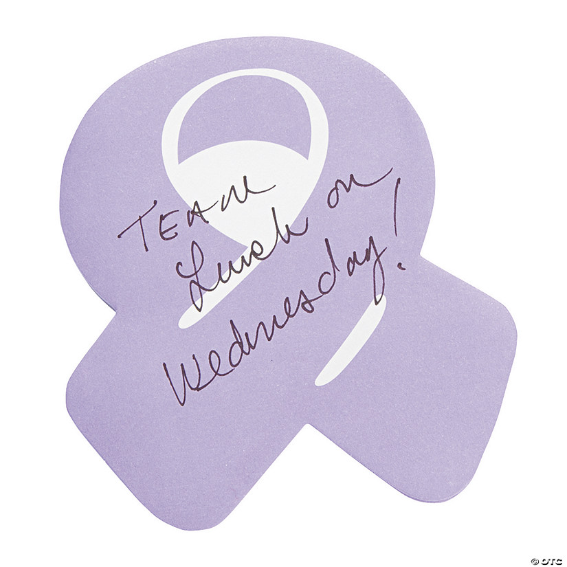 Purple Awareness Ribbon Sticky Notes