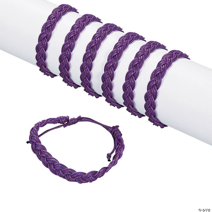 Purple Braided Friendship Bracelets