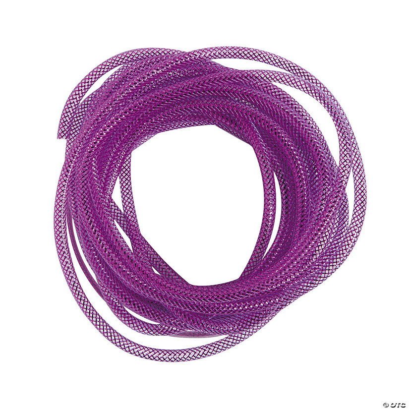Purple Mesh Tube Ribbon
