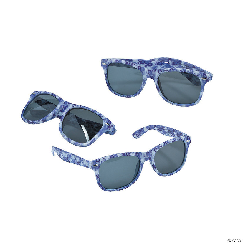 Purple Ribbon Camouflage Sunglasses